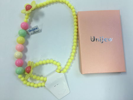 Candy Color Toddler Baby Girl Colorful Beads Chain Necklace Princess Jewelry